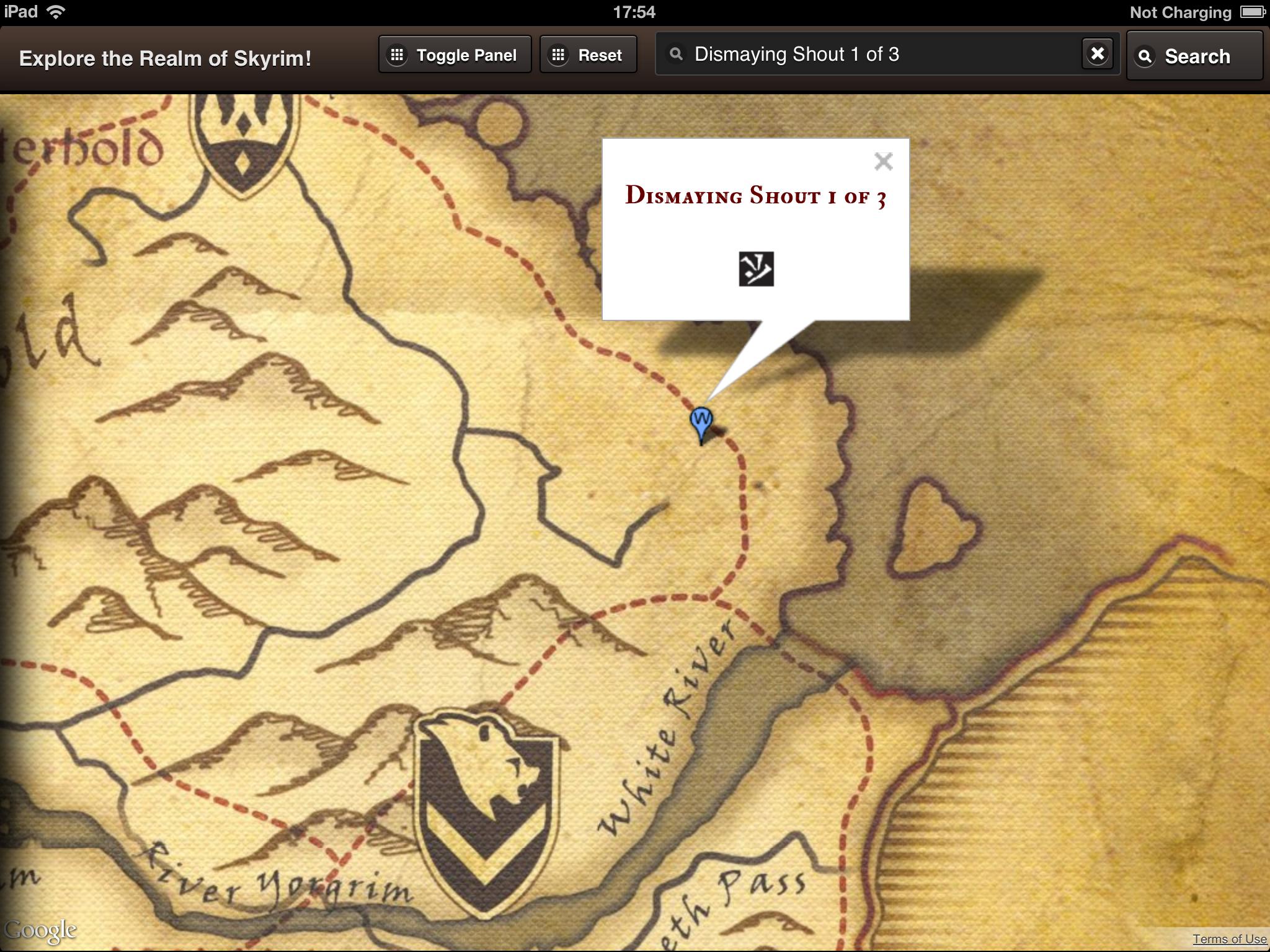 An Interactive Skyrim Map Realized By Leonardo Gandini