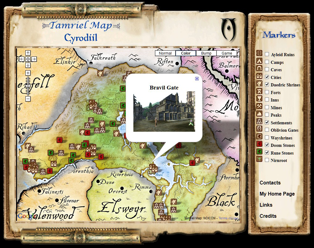 Elder Scrolls Tamriel Maps With Skyrim And Dragonborn