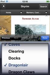 Skyrim Map HD App for iPhone