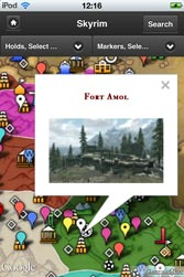 Skyrim Map HD App for iPhone