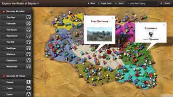 Skyrim Map HD Modern App for Windows 8