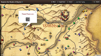 Skyrim Map HD Modern App for Windows 8